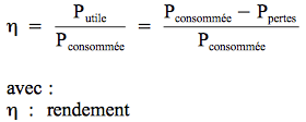 énergie calorifique formule